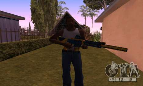 M4 BlueYellow para GTA San Andreas terceira tela