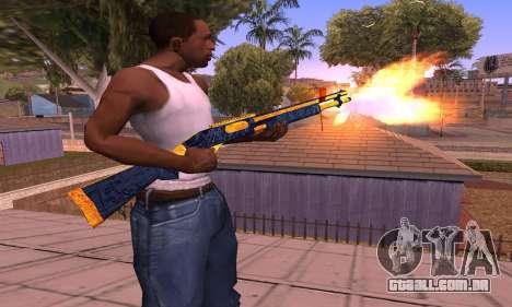 Shotgun BlueYellow para GTA San Andreas segunda tela