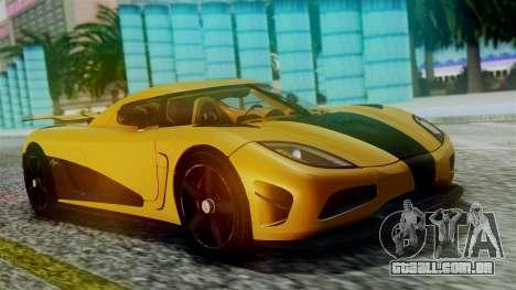 NFS Rivals Koenigsegg Agera R Racer para GTA San Andreas vista interior