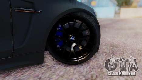 BMW M1 Tuned para GTA San Andreas traseira esquerda vista