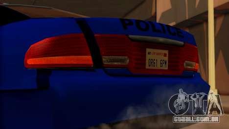 Police HSV VT GTS SA Style para GTA San Andreas vista traseira