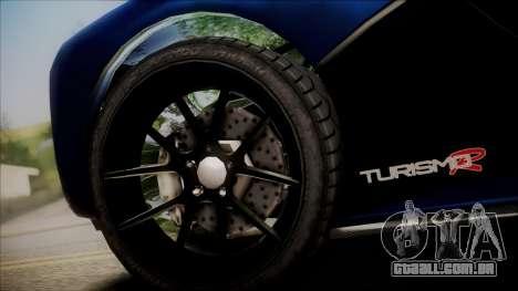 GTA 5 Grotti Turismo R SA Style para GTA San Andreas traseira esquerda vista