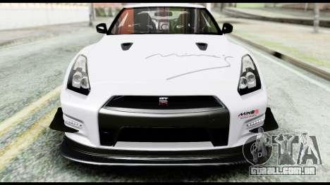Nissan GT-R R35 2012 para GTA San Andreas vista superior