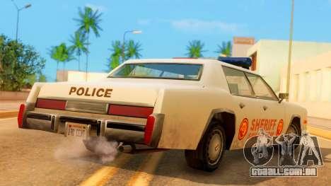 4-door Police Esperanto para GTA San Andreas esquerda vista
