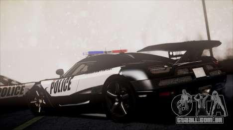 NFS Rivals Koenigsegg Agera R para GTA San Andreas traseira esquerda vista