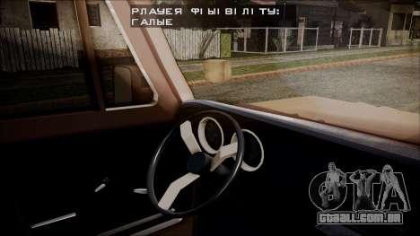 Chevrolet Veraneio para GTA San Andreas traseira esquerda vista