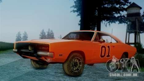 Dodge Charger General Lee para GTA San Andreas esquerda vista