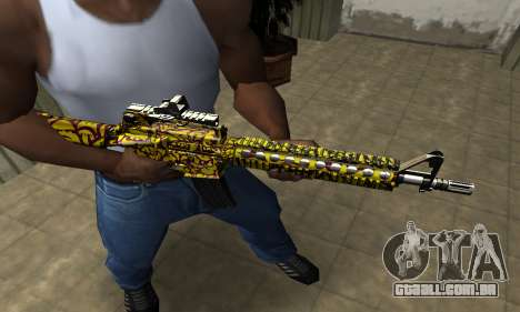 Yellow Jungle M4 para GTA San Andreas