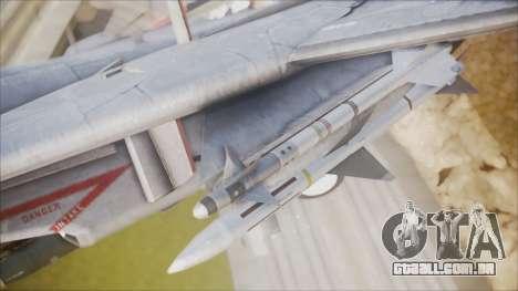 F-14B Bombcat VF-11 Red Rippers para GTA San Andreas vista direita