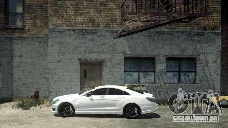 Mercedes-Benz CLS 63 AMG para GTA 4 traseira esquerda vista