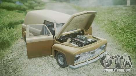 GTA 5 Vapid Slamvan para GTA San Andreas vista traseira