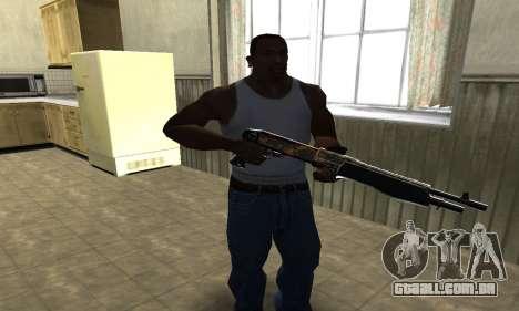 Brighty Yellow Combat Shotgun para GTA San Andreas segunda tela