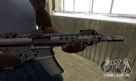 Full Black Automatic Gun para GTA San Andreas segunda tela