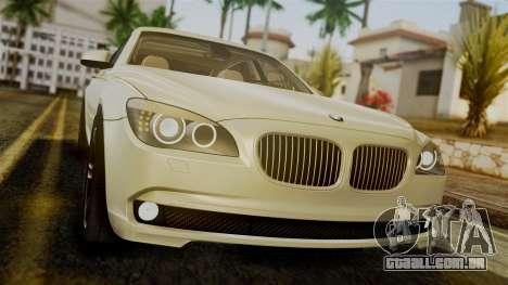 BMW 7 Series F02 2012 para GTA San Andreas vista traseira
