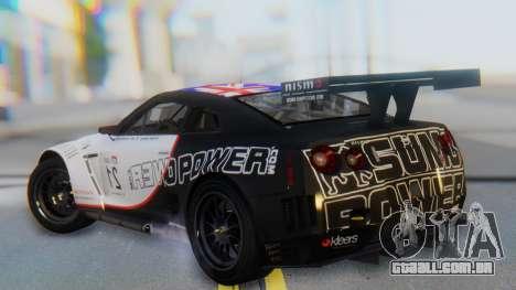 Nissan GT-R GT1 Sumo para GTA San Andreas esquerda vista