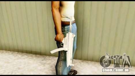 MP5 com estoque para GTA San Andreas terceira tela