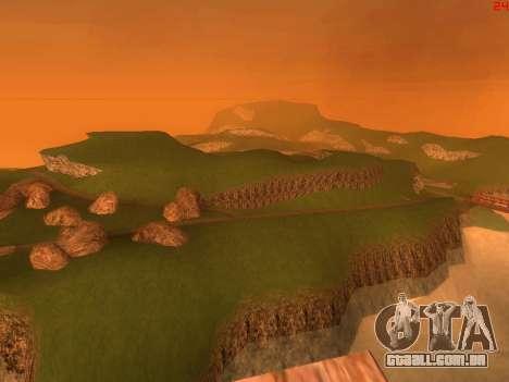 Verde deserto de Las Venturas v2.0 para GTA San Andreas por diante tela