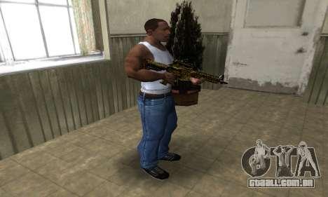 Yellow Jungle M4 para GTA San Andreas terceira tela