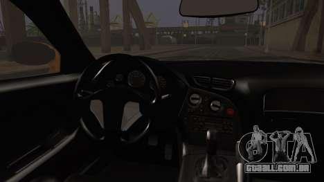 Mazda RX-7 Veilside para GTA San Andreas traseira esquerda vista