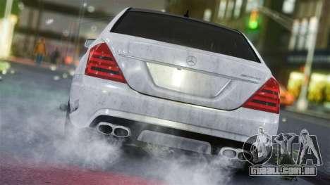 Mercedes-Benz S65 AMG Vossen para GTA 4 traseira esquerda vista