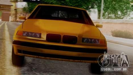BMW M3 E36 SA Style para GTA San Andreas traseira esquerda vista