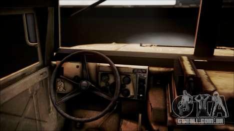 Polish HMMWV para GTA San Andreas vista traseira