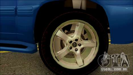 Toyota Land Cruiser 100 UAE Edition para GTA San Andreas vista direita