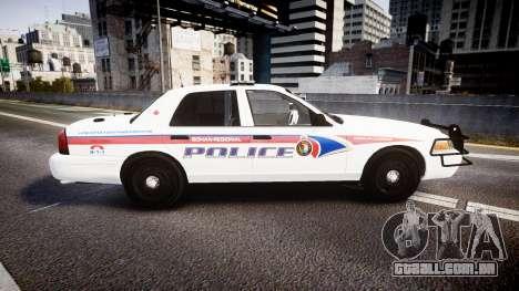 Ford Crown Victoria Bohan Police [ELS] WL para GTA 4 esquerda vista