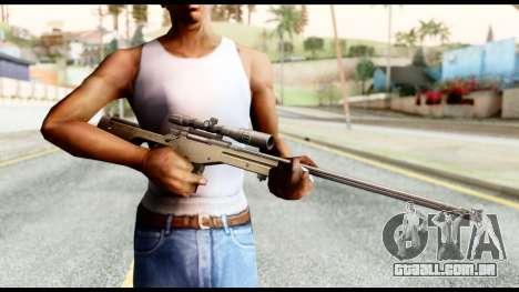 AWM L115A1 para GTA San Andreas terceira tela