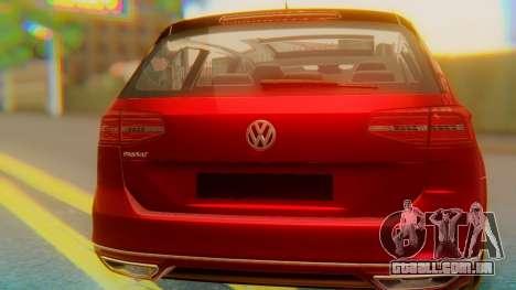 Volkswagen Passat Variant R-Line para GTA San Andreas vista interior
