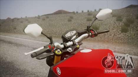 Yamaha MT-09 para GTA San Andreas vista direita