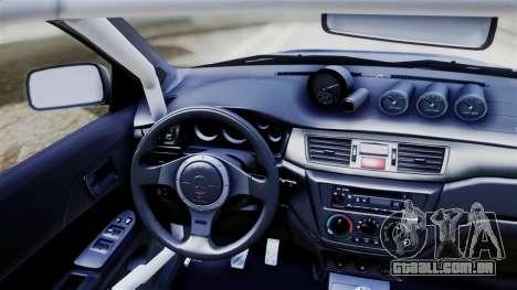 Mitsubishi Lancer Evolution VIII para GTA San Andreas traseira esquerda vista