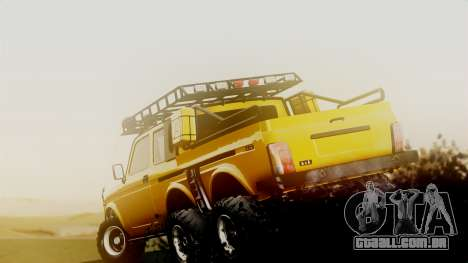 VAZ 2121 Niva 6x6 para GTA San Andreas traseira esquerda vista