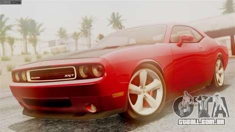 Dodge Challenger SRT8 2009 para GTA San Andreas vista interior