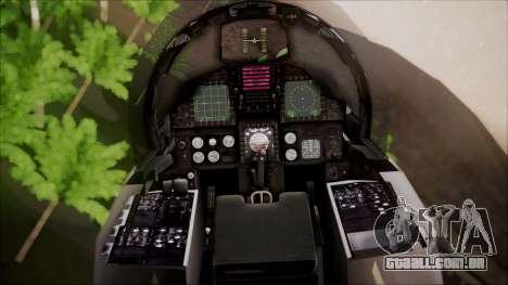 F-15S MTD Grabacr (8492nd) Ace Combat 5 para GTA San Andreas vista traseira