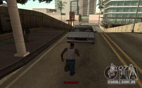 SprintBar para GTA San Andreas por diante tela