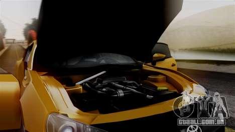 Toyota GT86 PJ para GTA San Andreas vista traseira