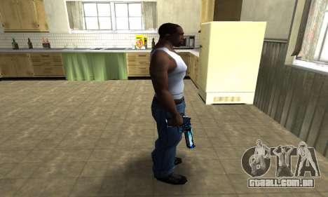 Blue Lines Deagle para GTA San Andreas terceira tela