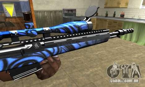 Blue Limers Sniper Rifle para GTA San Andreas segunda tela