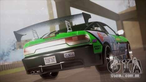 Nissan 240SX Sinon Itasha para GTA San Andreas esquerda vista