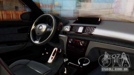 BMW M1 Tuned para GTA San Andreas vista direita