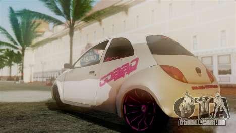 Ford Ka El Patan para GTA San Andreas traseira esquerda vista