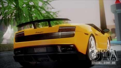 Lamborghini Gallardo LP570-4 Spyder 2012 para GTA San Andreas esquerda vista