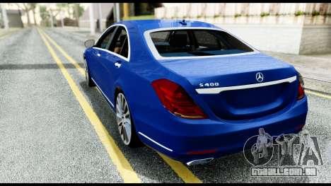 Mercedes-Benz S-class W222 2014 para GTA San Andreas esquerda vista