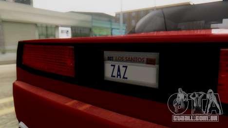 Infernus BMW Revolution with Plate para GTA San Andreas vista direita