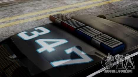 Hunter Citizen Police SF IVF para GTA San Andreas vista traseira