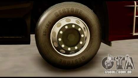 Mercedes-Benz Actros MP4 4x2 Standart Interior para GTA San Andreas traseira esquerda vista