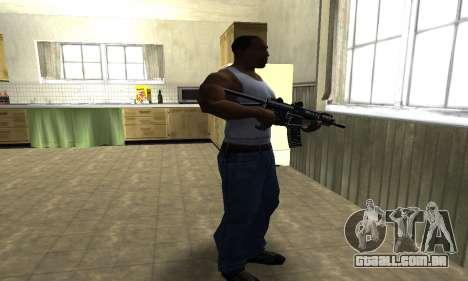 Full Black Automatic Gun para GTA San Andreas terceira tela