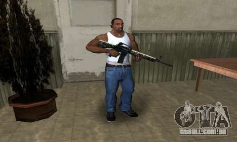 Military M4 para GTA San Andreas terceira tela