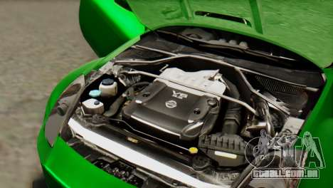 Nissan 350Z para GTA San Andreas vista interior